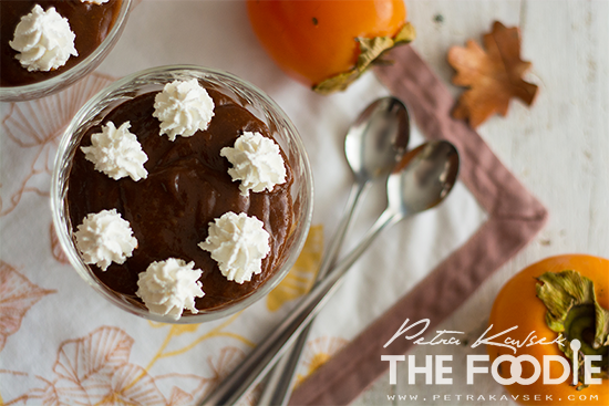 Chocolate Persimmon Pudding