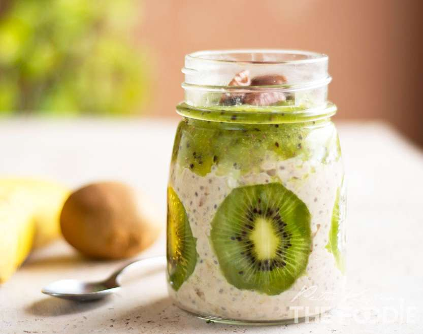 Banana Kiwi Overnight Oats
